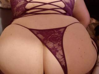 Pulled the panties to the side, got it wet and ready. Mr.Begs cock is getting ready to slide deep inside.