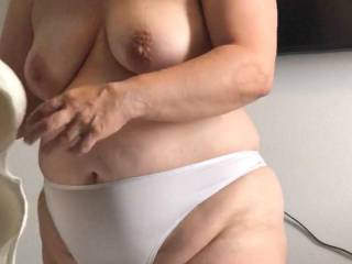 My BBW wife after a shower.