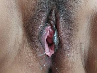 Wife pussy after taking a 10 inch long thick cock for full an hour!!!