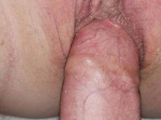 Fucking her tight smooth pussy before I filled it with cum.