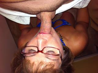 Ahhhh getting my mouth fucked nice with that shaved boy cock!! Who\'s next?