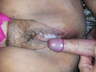 Looks like she could use another load blasted on that pussy...Mind if I pump my load onto her next?