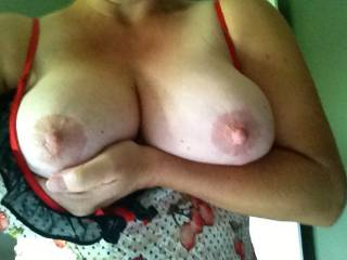 damn...I adore your heavenly beautiful and big tits...would love to grab and fondle them...lick them...mmmm