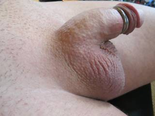 shaved smooth around my penis and balls