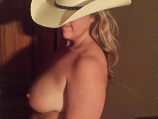 This cowgirl is ready to ride my cock