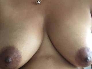Want to lick and suck them, slide my cock between them and shoot my hot cum all over them, massage my spunk into your soft breasts, tease your hard nipples, see just how wet I can make you