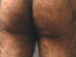 I would love to lick and kiss that sexy furry ass of yours
