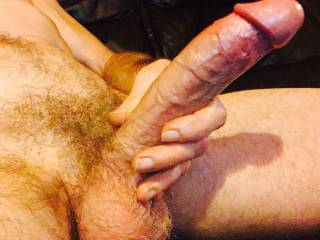 Oiled up, Wanking My Throbbing Cock for a Young Woman.