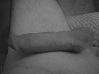 Just a black and white shot of my cock..