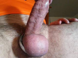was pumping iron, got horny, started pumping hard cock