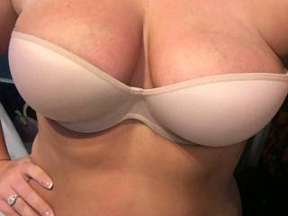 Seeing if hubby approved of bra