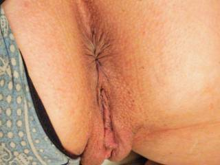 My wife's sexy ass pussy, all ready for my fat cock.