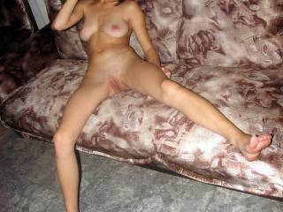 I don't thinkany of us would've noticed the ugly couch if you hadn't mentioned it! Because I just can't take my eyes off of your incredibly hot, beautiful, sexy self!!! ;-)