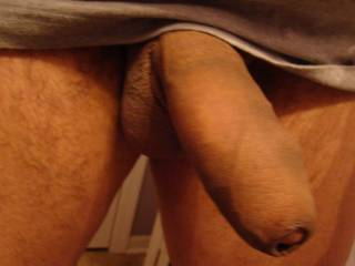 i was horny so i started taking pics of my thick uncut cock