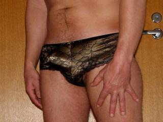 I try on wifes panties................