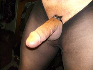 Oh yeah, I love the feeling of nylon against my hard cock.
