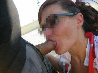 I get so wet looking at your pictures. I would absolutely love to feel that huge cock stretching my tight little pussy.Mrs.M