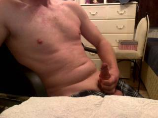 Your nipples look perfect for sucking and biting. Will you let me do that while you jerk off?