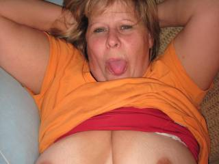 Yes I got a load for that hot tongue,love to suck your hot ass tits !!