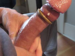 Mmmmm, that is a delicious cock.  We wouldn't want to cut off the cum now would we.  I love the cum....and I definitely love the cock. I want it all that gorgeous cock and your gooey warm cum.
