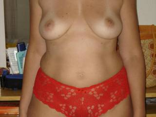 .. those breasts sure do look ready for my hands and fingers to be cupping them and `puling you closer