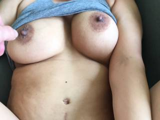 She fantasizes about lots of men cumming on her at the same time, can you help us out?