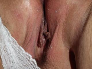 Pussy shot from behind of wife's thick pussy