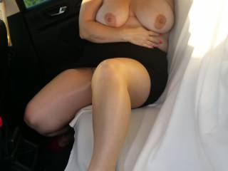 Having fun in the car outdoors for anyone watching....