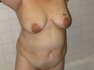 just got out of the shower. full body shot hope you like