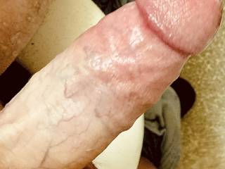 Stroking my cock so I can empty my balls