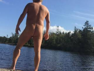 One last time stripping off at the lake before it's too cold!!