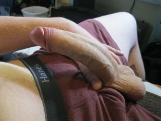 Love your cock, can suck it while my husband fucks me and your wife watches.