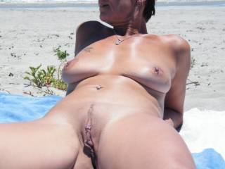 Yet another great photo from you guys. Any day at the beach with your hot, naked body is a lovely day.