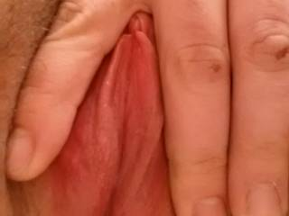 OMG you have one very sweet open pink pussy!! love to slide my stiff shaft balls deep inside your tasty love hole and pump you full of my hot sticky white creamy cum!!!