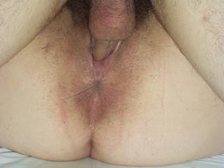 one very nice view, lovely dark ass needs a long licking so nice seeing her lips parted with a hard cock just wish it was mine ;-)