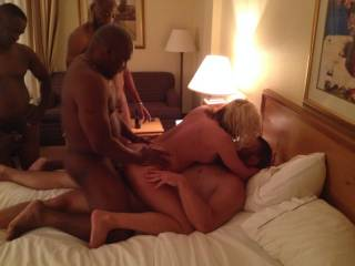 4 men and me!!! GANGBANG!!  This is DPP my favorite!!  If 1 big cock in my pussy feels good then 2 is amazing!!!!