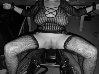hubbies squirtjng chair. our fet group parties favorite new toy