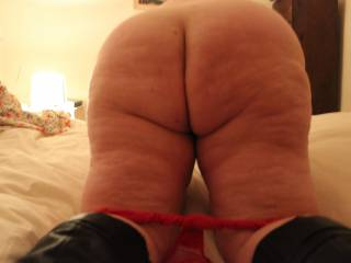 Mmm. yes ..pull those fat ass cheeks open and stick my hard cock into both your dirty holes