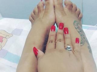 Friends wife's feet
