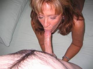 She looks great sucking cock.  Will she suck mine and does she swallow?