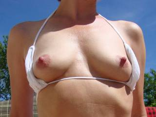 Hard nipples after unbanding