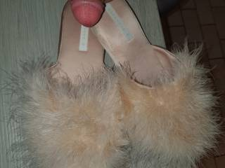 i love thoae soft slippers against my tiny dick