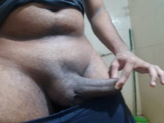 Morning big black cock pics to all cock thirsty whores..!! Crawl up and take my bbc in to your mouth..