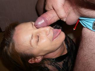This is my slut, she loves the way how i play with her. Allways ready for some game, allways smiles while she takes big cock in her eyes or mouth. Good girl.