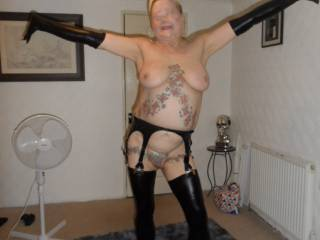 Hi all think it may be time for a little mild bondage, I do like the feel of my PVC outfits  dirty comments welcome mature couple