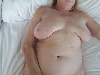 Kathie at hotel enjoying herself. Like to join her
