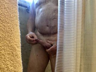 Jerking off in the shower.