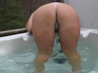 Ass in my wet thong.