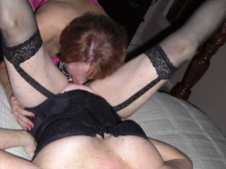 wife getting a good licking from friend. She really needs a cock in her mouth right now!
