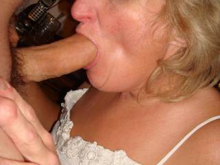 You look real good with your mouth full of cock. Keep up the good work